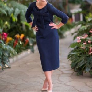 Dainty Jewells Signature Bow Dress in Navy
